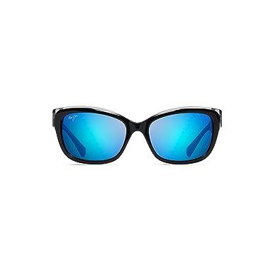 42049dd3871b Maui Jim Plumeria B768-02K   Polarized Black with Crystal cateye Frame  Sunglasses, Blue