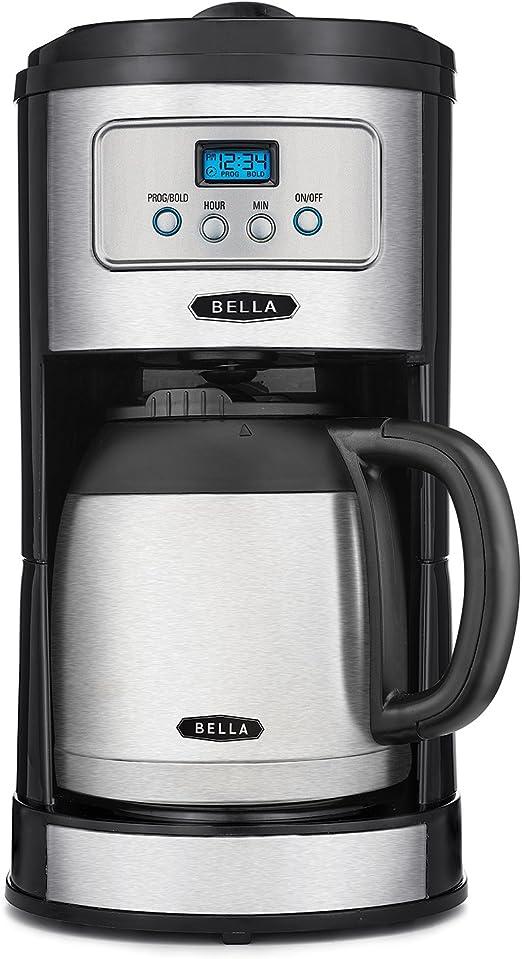 Bella Classics – 10 taza jarra térmica cafetera programable, Bold ...