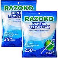 Palillos de hilo dental, sin sabor, desechables, paquete