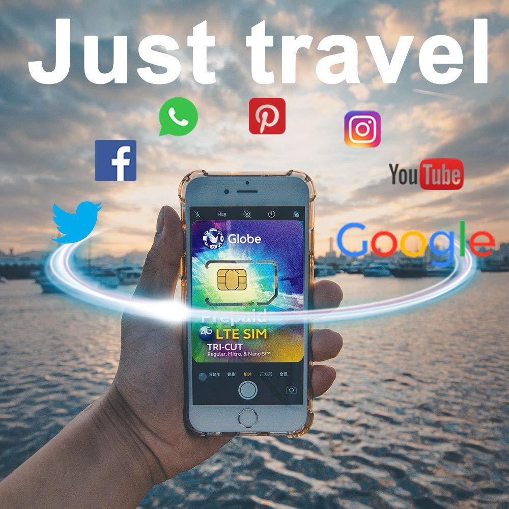 Globe Travel Philippines Prepaid Data Sim Card, 2GB 4G Data for 6 Days