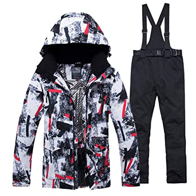 1c0d4571d Amazon.com  Jacket + Strap Pant Sets Men s Snow Suit Outdoor Sports ...