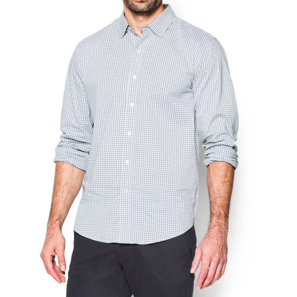 Under Armour Men's Performance Woven Shirt, Steel (035)/Steel, XX-Large