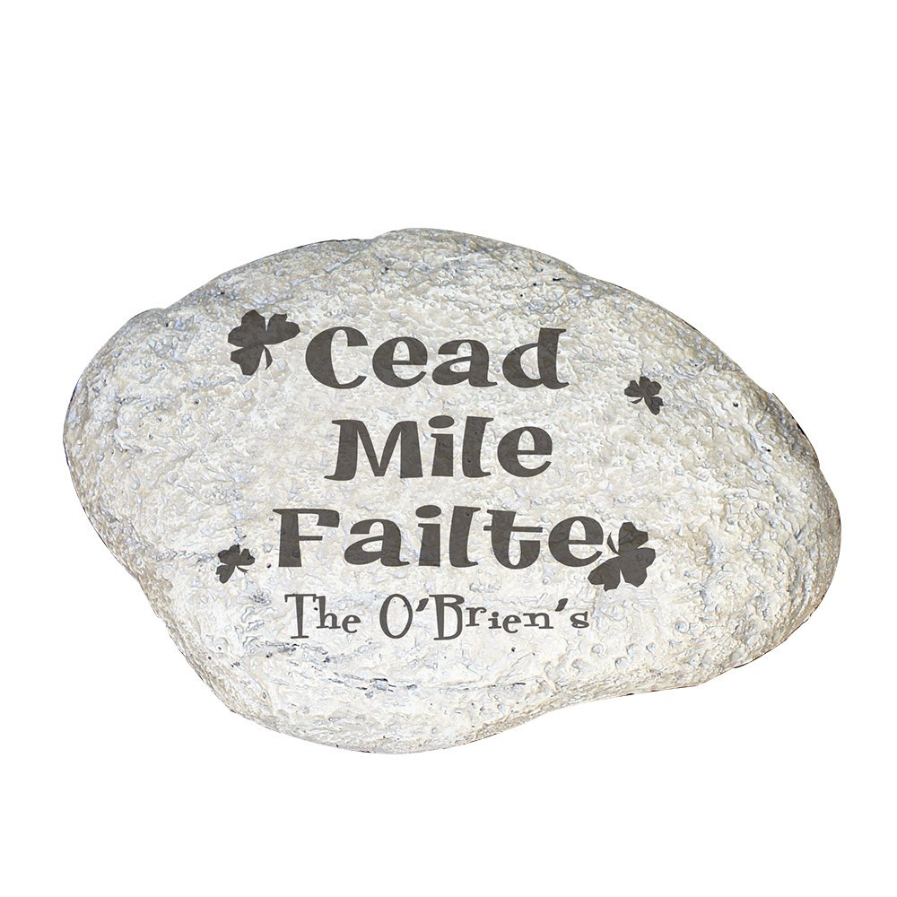 GiftsForYouNow Irish House Blessing Personalized Garden Stone, 11'' W x 8'' H x 1 1/2'' D, Resin