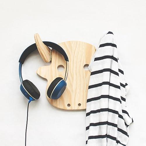Amazoncom Modern Wood Wall Hanging Coat Rack Teen Bedroom