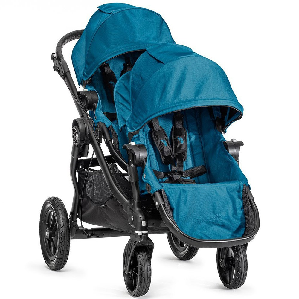 Baby Jogger City Select Black Frame Stroller w 2nd Seat, Teal