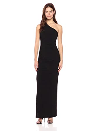 835013dc948 Laundry by Shelli Segal Women's Matte Jersey One Shoulder Gown with  Beading, ...