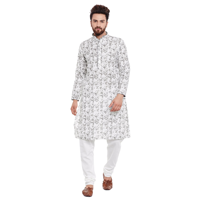 Indian-Traditional-Kurta-Pajama-Set-Shirt-Printed-Men-Kurta-Ethnic-Wear-XS-5XL thumbnail 17