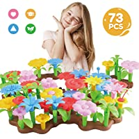 Bfuntoys 73Pcs Flower Garden Building Toys for 2 3 4 5 Year Old Girls Outdoor Indoor...