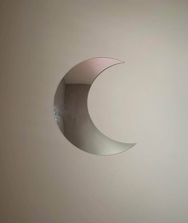 Crescent Shaped Fancy Acrylic Moon Mirror Wall Decor 30cm x 25cm