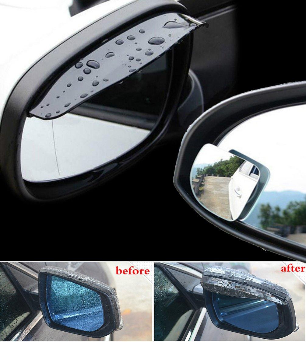 Lihuaolao Fan-shaped Blind Spot Mirror Give Away a Pair of Rear View Side Mirror Rain Board a Pair