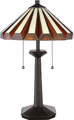 Quoizel Tf6668vb 2 Light Gotham Table Lamp In Vintage