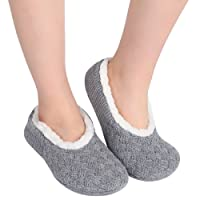 ChicNChic Ladies Soft Low Cut Warm Cotton Socks Non Slip Ankle Knitted Slipper Socks with Grips