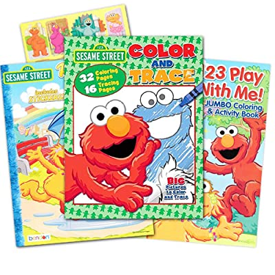 Sesame Street Ready, Set, Color! Coloring and Activity Book with 30 Stickers 144 Pages: Toys & Games
