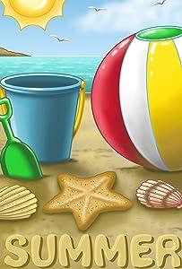 Toland Home Garden Summer Beach Ball 28 x 40 Inch Decorative Sea Sun Sand Ocean Seashell House Flag