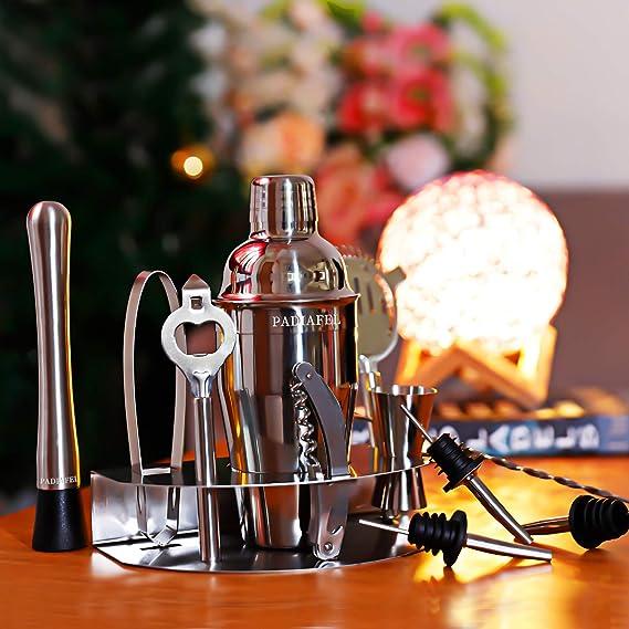 Compra PADIAFEL Coctelera de Cóctel, Juego de coctelera de cóctel 12 piezas, Complete mixer set Stainless steel cocktail shaker en Amazon.es