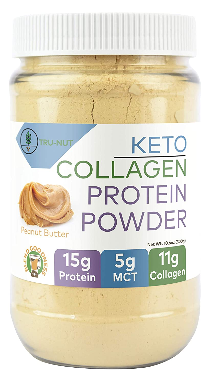 Amazon.com: Tru-Nut Keto Collagen Protein Powder (10.6oz, 12 Servings) : Low Carb Protein Blend with MCT Powder, Use for Keto Drinks and Snacks, ...