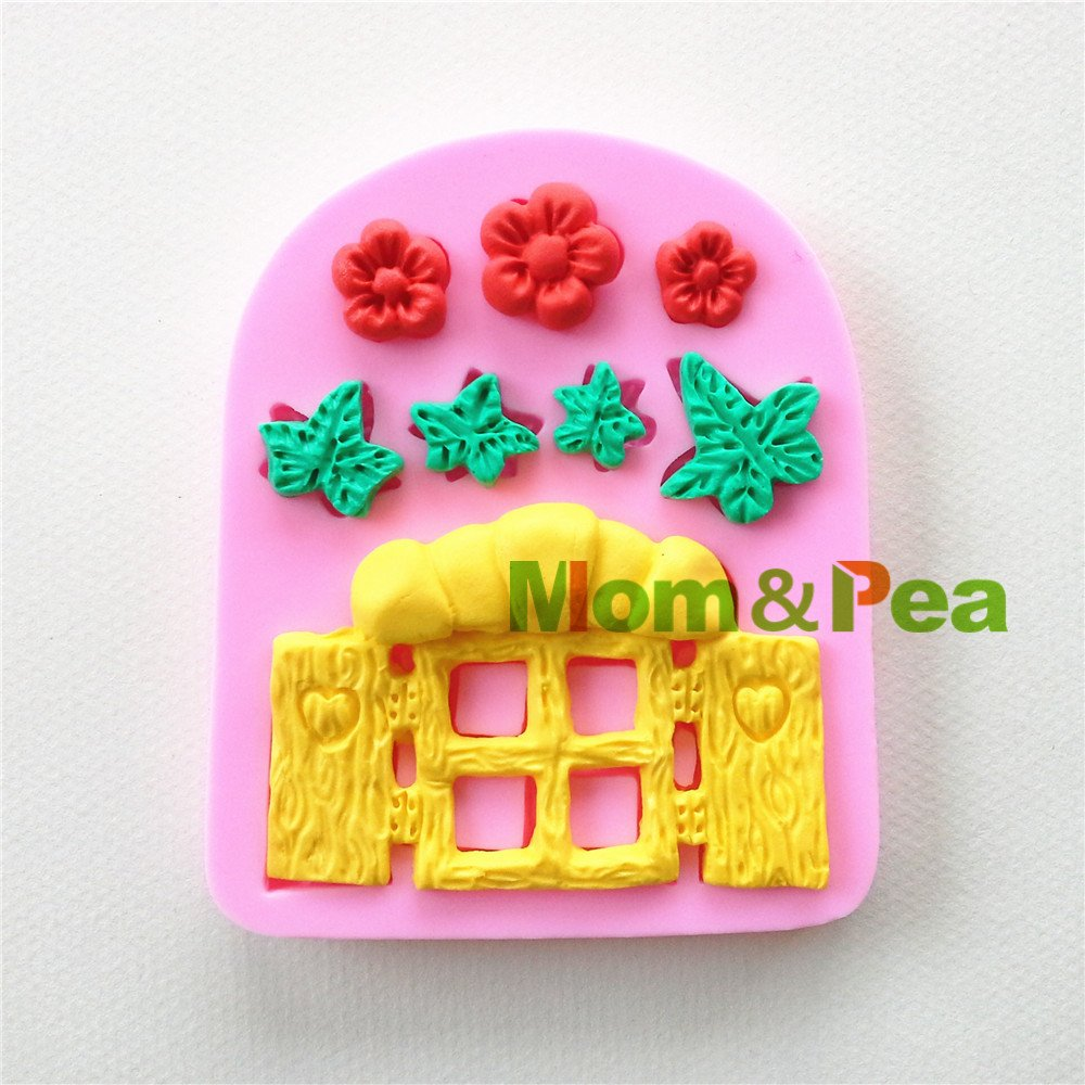 Star-Trade-Inc - 0913 Window Shaped Silicone Mold Cake Decoration Fondant Cake 3D Mold Food Grade