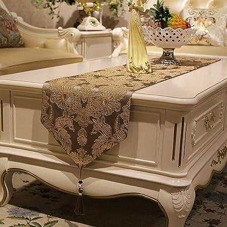 Camino de mesa Tira de seda bordada paño antideslizante mesa de ...