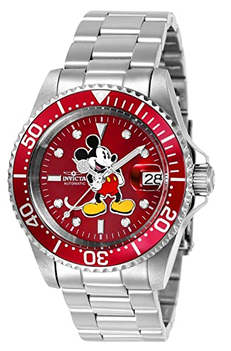 672bbb5ed8e Invicta 24609 Disney Limited Edition Mickey Mouse Unisex Wrist Watch  Stainless Steel Automatic Red Dial  Amazon.co.uk  Watches