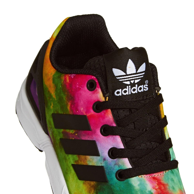 adidas ZX Flux K, Mocassins Garçon, Multicolore-Mehrfarbig (Cblack/Cblack/Ftwwht), 36 EU