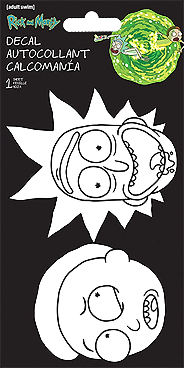 One Color Decal Faces Trends International Rick /& Morty