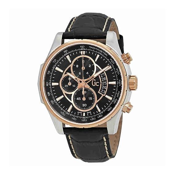 GC X81007G2S - Reloj de pulsera hombre, piel, color negro