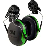 3M 93045937285 Peltor X-Series Cap-Mount Earmuffs, NRR 21 dB, One Size Fits Most, Black and Green X1P3E, Pack of 1