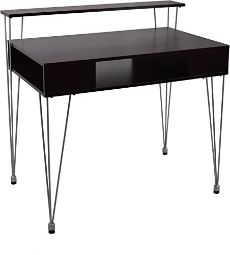 Proman Products 3 Compartment Shelving Marcus Jr. Desk