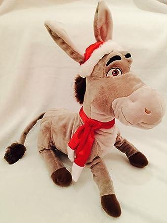 Donkey Toy Shrek Christmas Soft Festive Peluche Disney H9IeEYWD2