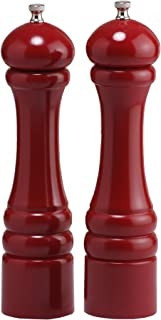 "product image for Chef Specialties 10"" Imperial Pepper Mill and Salt Mill Set, Candy Apple Red"