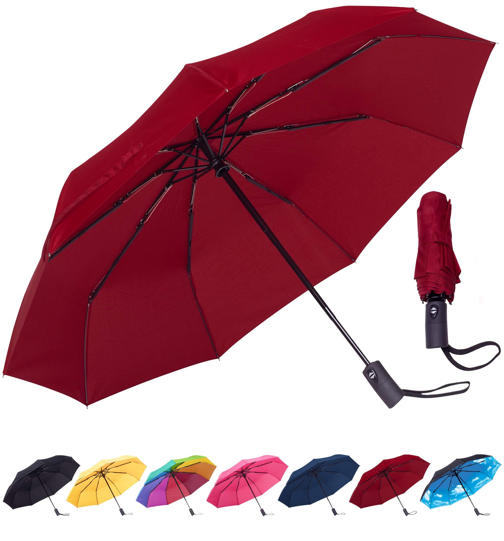 Rain-Mate Compact Travel Umbrella - Windproof, Reinforced Canopy, Ergonomic Handle, Auto Open/Close Multiple Colors