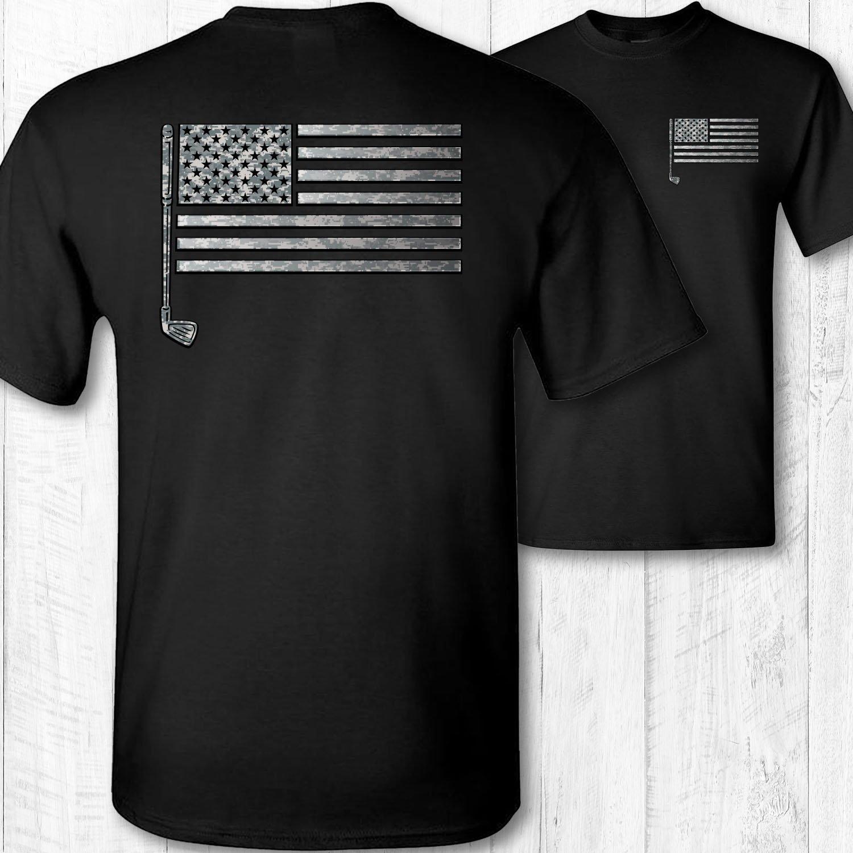 Men's American Flag Golf Shirt