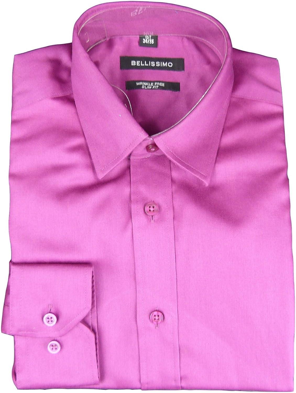 Bellissimo - Camisa casual - para hombre rosa fucsia 43 cm Collar: Amazon.es: Ropa y accesorios