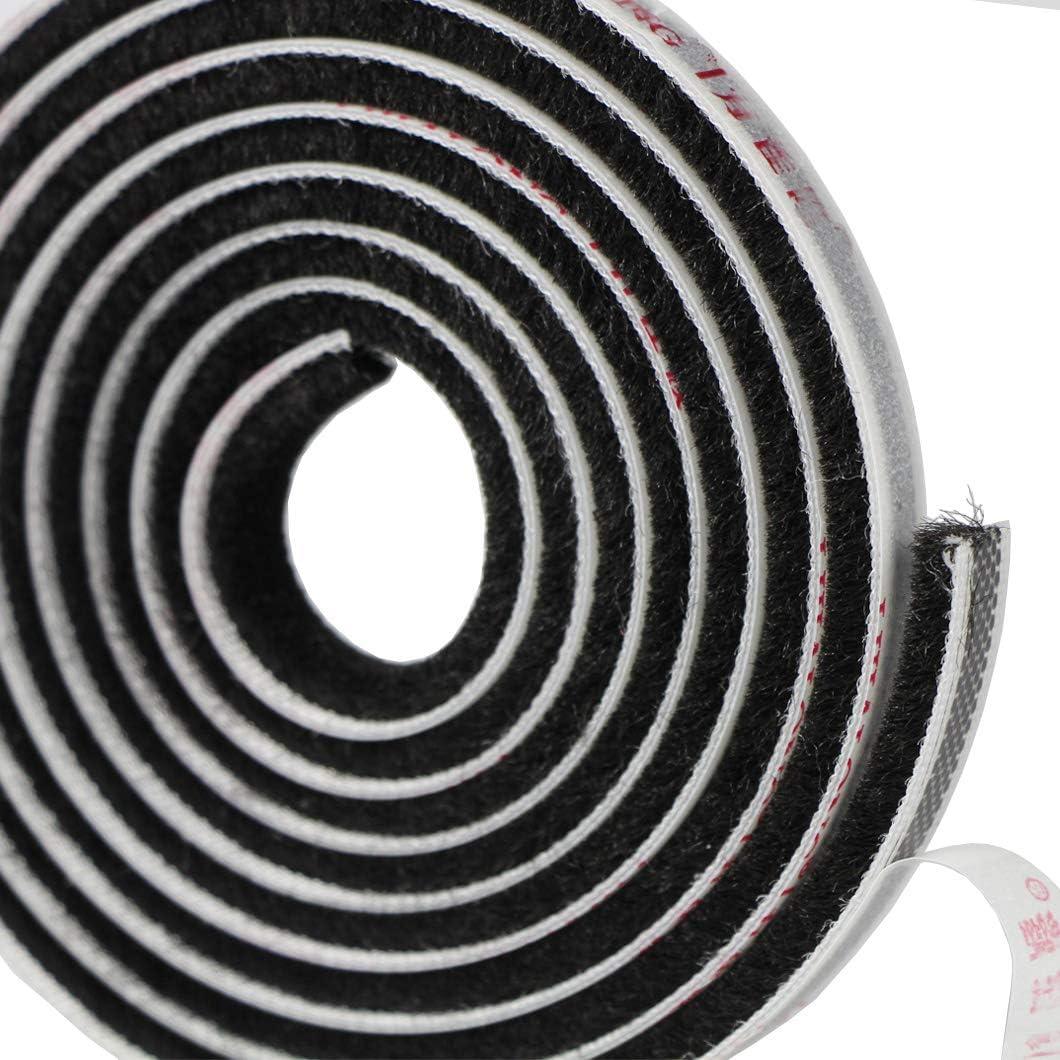 Grau EDGEAM Selbstklebend Dichtungsband B/ürste Fensterdichtung T/ürdichtung B/ürstendichtung f/ür T/ür Fenster Zugluftstopper Staubdicht Dichtungsb/ürste Kleiderschr/änke 9MM breit x 5MM hoch 5 Meter