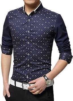 Gladiolus Camisa para Hombre Camisa de Manga Larga con Botones Estampado Camisa M/L/XL/XXL/3XL: Amazon.es: Deportes y aire libre