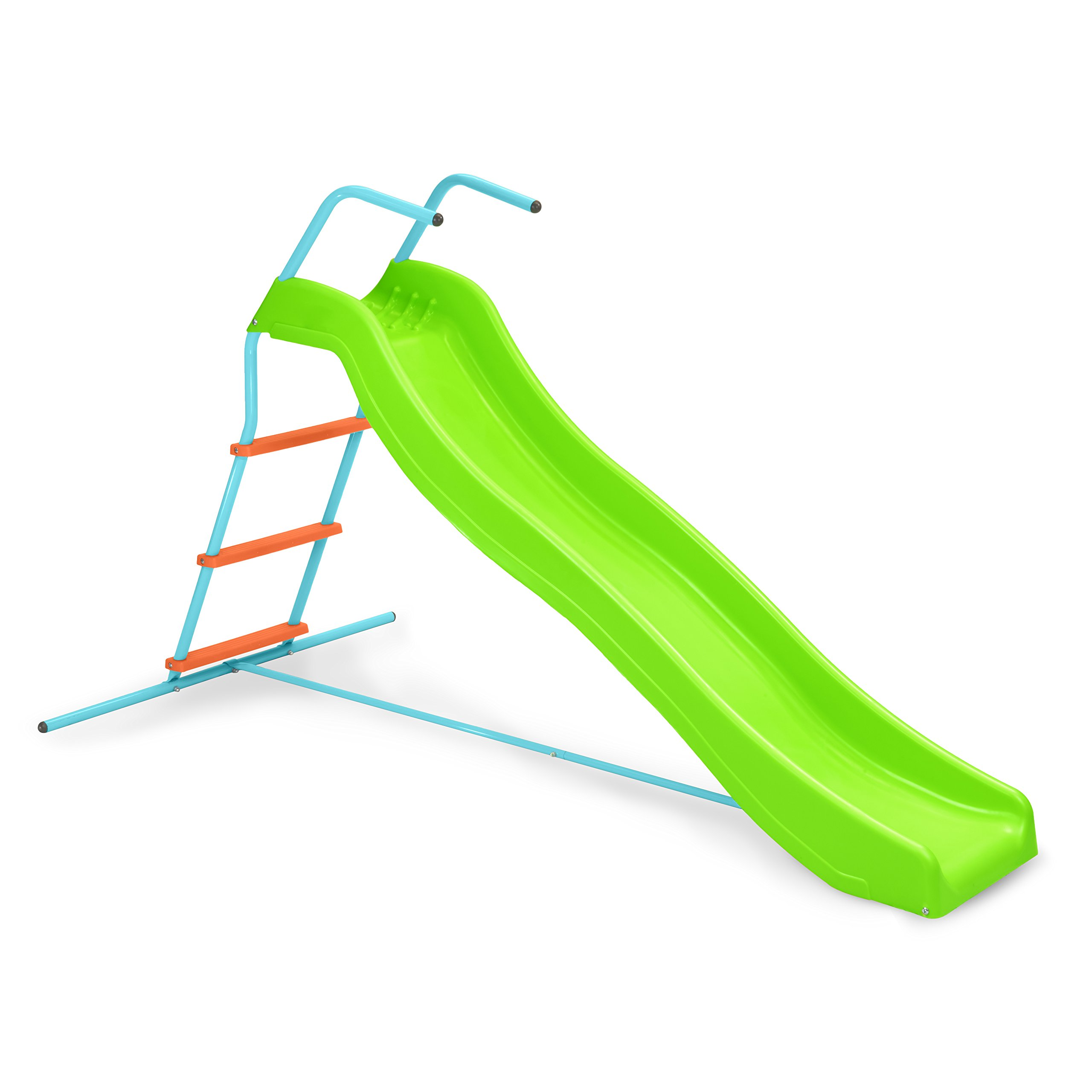 Pure Fun Home Playground Equipment: 6' Indoor/Outdoor Wavy Slide, Youth Ages 4 to 10