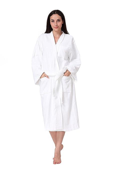Amazon.com  Acanva Women s   Men s Terry Robe Plush Cotton Spa ... 0ec2c2555