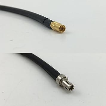Cable coaxial RF de alta calidad RG188 MMCX FEMALE a TS-9 Male, 50
