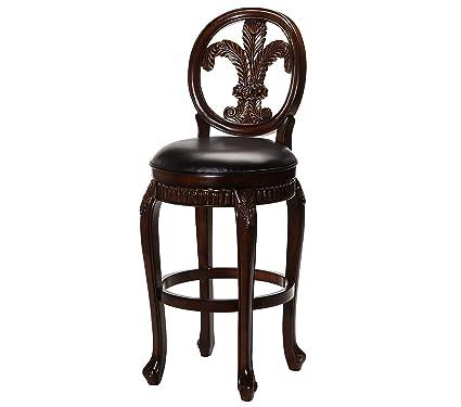 Peachy Amazon Com Deluxe Premium Collection Fleur De Lis Swivel Machost Co Dining Chair Design Ideas Machostcouk