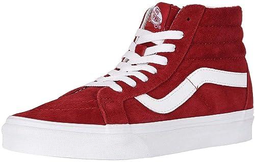 ad93d04059 Vans SK8 Hi Maroon White Unisex Suede Skate Trainers  Amazon.co.uk ...