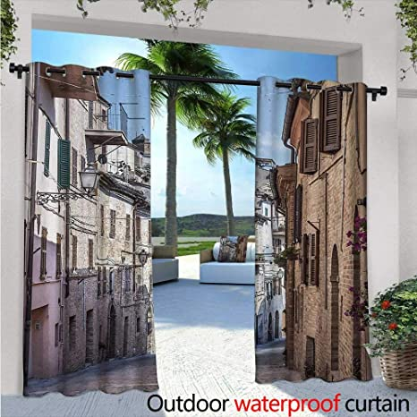 Amazon.com : BlountDecor Mediterranean Balcony Curtains W72 ...