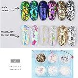 Lookathot 6Boxes / Set Irregular Nail Art Glitter Foil Slice Glass Piezas rotas Pegatinas de decoración Candy Star Star…