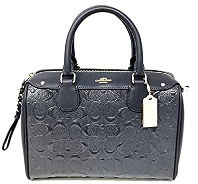 325e2e179101 Image Unavailable. Image not available for. Color  COACH F11920 MINI  BENNETT SATCHEL IN SIGNATURE DEBOSSED PATENT LEATHER MIDNIGHT