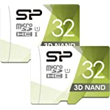 Silicon Power 32GB Class 10 Micro SDHC Flash Memory Card with Adapter (2 Pack)