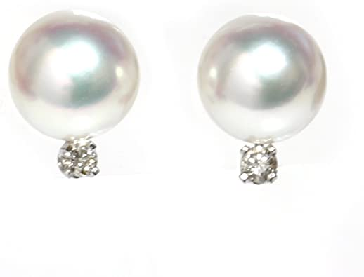 New 14k GoldCULTURED PEARL 8.5mm Earring Studs-Free Shipping!