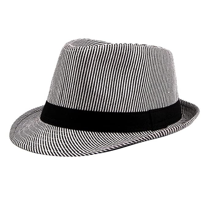 Men Women Wool Blend Trilby Hats Fedora Caps Jazz Sunhat Panama Gangster Size L
