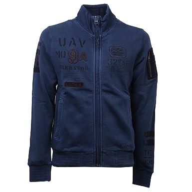 Aeronautica Militare D6224 Felpa uomo BLU Felpe Felpato Sweatshirt Man [S]: Amazon.es: Ropa y accesorios