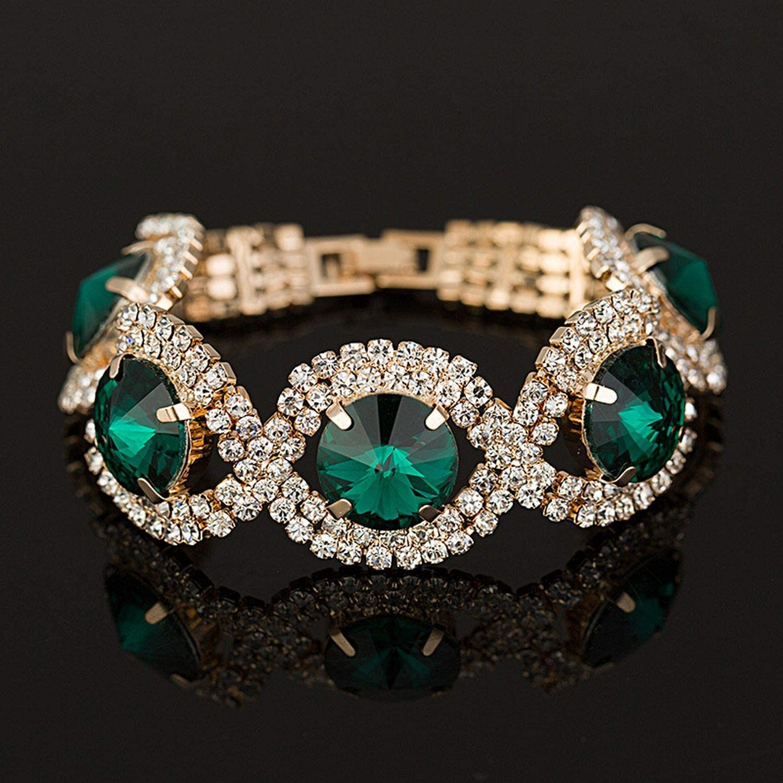 change 2019 Women Luxury Bracelets /& Bangles Wholesale Rhinestone Woman Fashion Bracelets Bangles Wedding Gifts