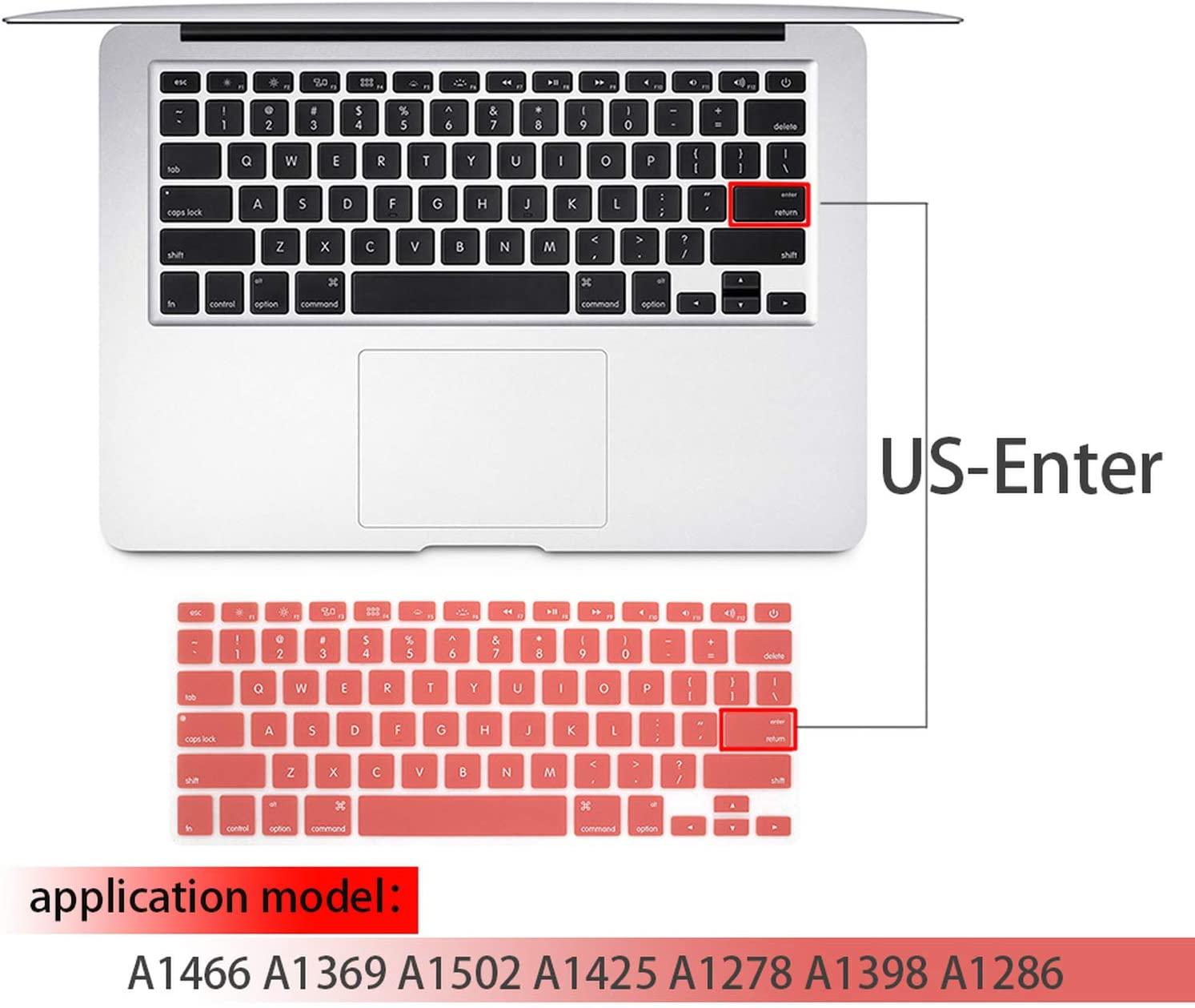 Laptop Keyboard Cover for MacBook air 13 pro 15 inch US Silicon Keyboard Cover Color Protective Film-N