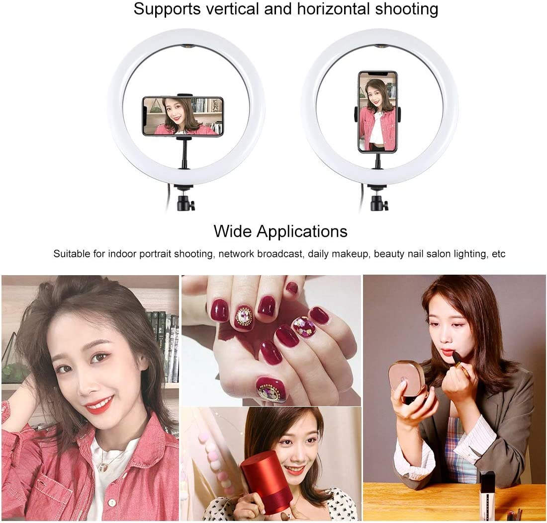 11.8 inch USB 3 Modes Dimmable LED Ring Vlogging Video Light Kits with 1.65m Adjustable Tripod Stand and Phone Clamp for Live Stream PULUZ Ring Light Kit Makeup YouTube Video